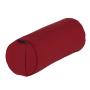 Cuscino yoga bolster 'neckroll' sfoderabile rubino