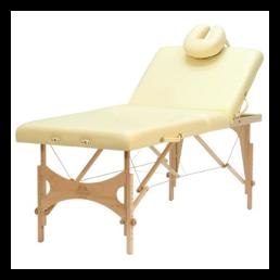 lettino da massaggio Oakworks in legno con schienale reclinabile Backrest