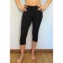Legging yoga capri nero - cotone - wellness bazaar