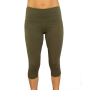 legging yoga capri verdesalvia cotone puro - wellness bazaar