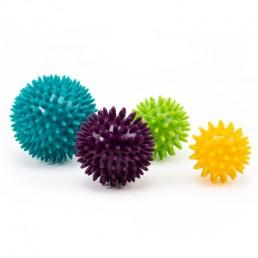 palle per automassaggio con protuberanze per stimolare la circolazione e la risposta sensoriale della muscolatura