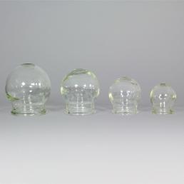 coppettazione set da 4 coppette in vetro
