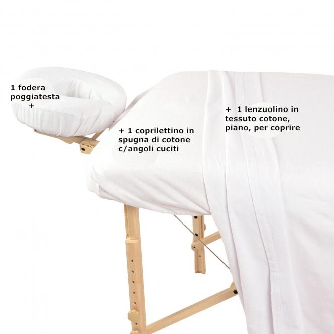 Copri Lettino Massaggio Spugna.Set Risparmio 3 Pz Completo Massaggio Wellness Bazaar By