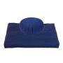 Set meditazione zafu e zabuton colore blu