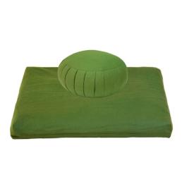 Set meditazione zafu e zabuton colore verde