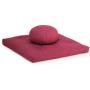 Set meditazione zafu e zabuton colore rubino