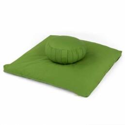 set meditazione con zafu verde