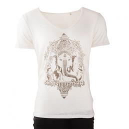 T-shirt yoga uomo cotone bio 'Ganesh'