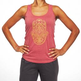 Canotta Hamsa colore caldo per yoga