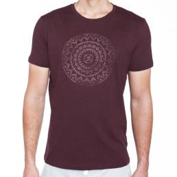 t-shirt yoga uomo cotone bio Mandala