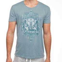 t-shirt yoga uomo cotone bio ganesh