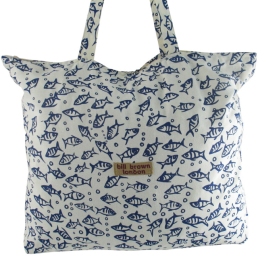 Borsa in stoffa Sophie-bill-brown