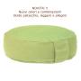 Cuscino meditazione rondo rotondo flat verde pistacchio