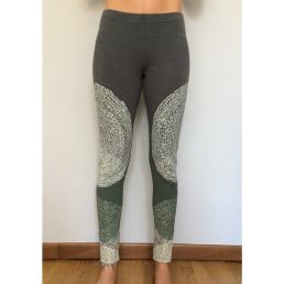 legging yoga cotone disegno cerchi - wellness bazaar
