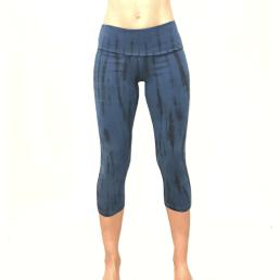 legging 3/4 batik blu-nero