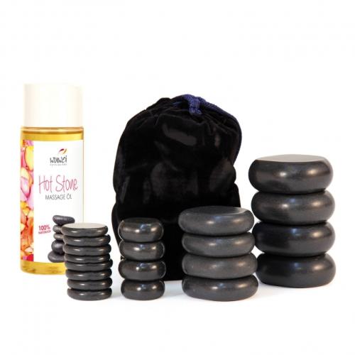 set hot stones + olio massaggio
