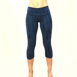 legging batik corto blu-nero