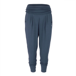 Pantalone yoga loose fit colore blu viscosa