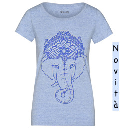 Ganesha t-shirt indaco