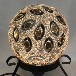 lampada sfera dorata