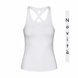 Top yoga cross back bianco