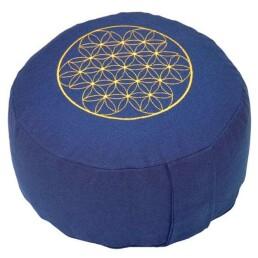 rondo cuscino ricamo blu