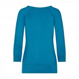 maglia easywear per yoga o per tutti i giorni, back, azzurra