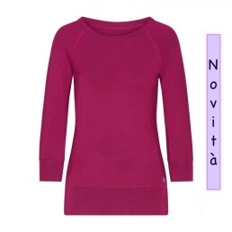 maglia yoga color prugna