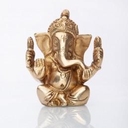 statuetta Ganesh cm12 ottone dorato